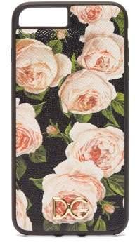 Dolce & Gabbana Rose Print Leather Iphone 7 & 8 Plus Case - Womens - Multi