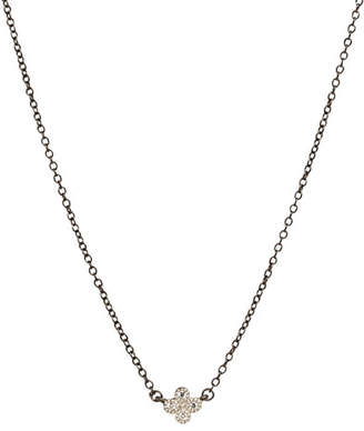 Freida Rothman Mini Clover Necklace w/Black Chain