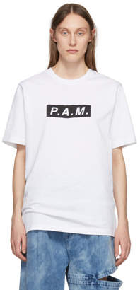 Perks And Mini White P.A.M. Logo T-Shirt