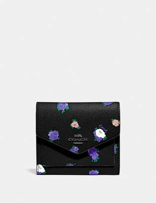 Coach Small Wallet With Vintage Rosebud Print