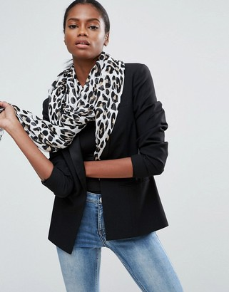 ASOS Lightweight Natural Leopard Print Scarf $26 thestylecure.com