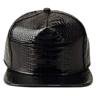 48599c8ce XRDSS Men Women PU Leather Hip-Hop Flat Bill Snapback Hat Crocodile Baseball  Caps