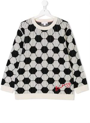 Burberry TEEN geometric patterned knitted sweater