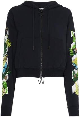 Off-White floral embroidered hoodie