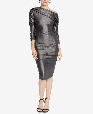 Rachel Roy Metallic Ruched Sheath Dress