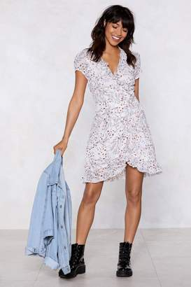 Nasty Gal That's a Wrap Floral Dress