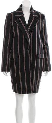 Elizabeth and James Striped Wool Coat
