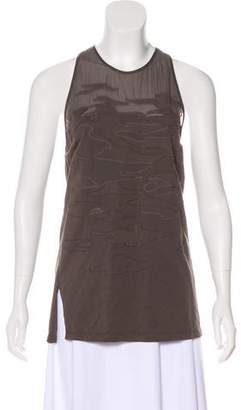 3.1 Phillip Lim Silk-Accented Sleeveless Top