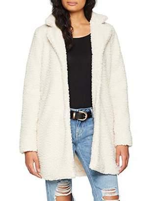 Pieces Women's Pcferling Coat, White Whitecap Gray, (Manufacturer Size: Medium)