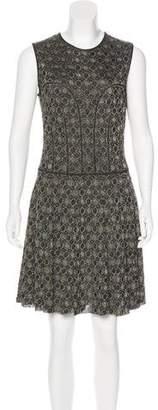 Alexander McQueen Metallic A-Line Dress