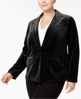 INC International Concepts I.n.c. Plus Size Velvet Blazer