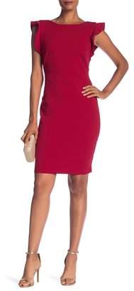 Marina Ruffle Sheath Dress