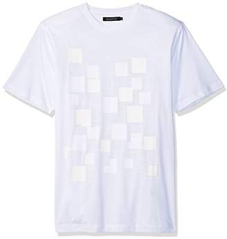 Bugatchi Men's Single Mercerized Cotton Jersey Flocked T-Shirt