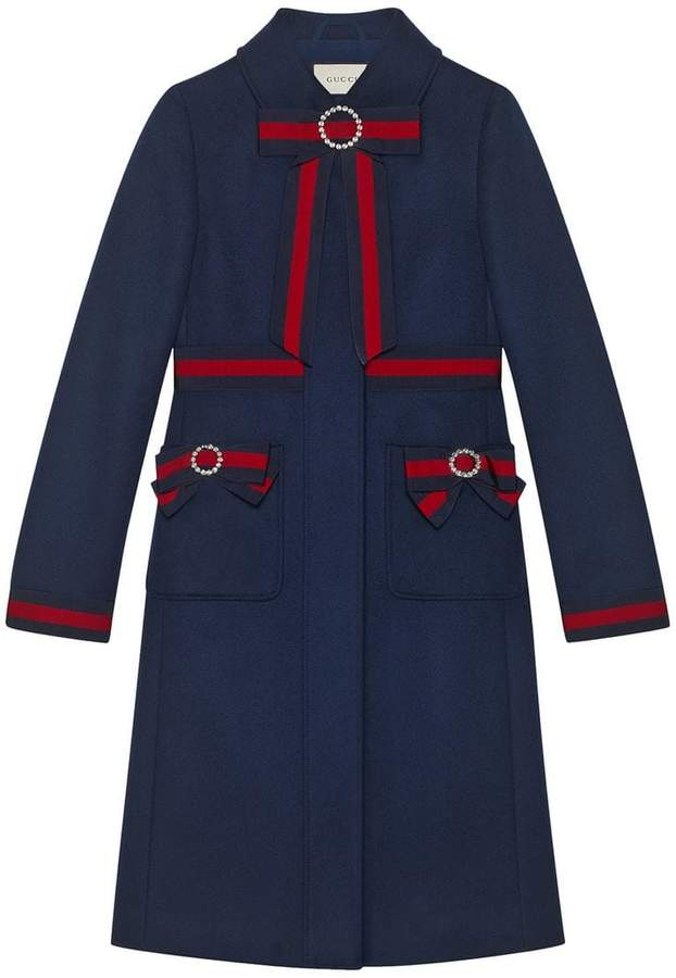 Gucci Wool coat with Web bows