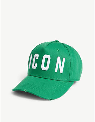 DSQUARED2 Acc ICON cotton strapback cap