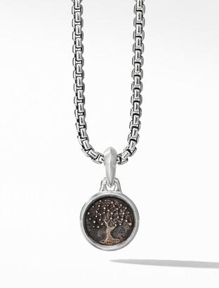 David Yurman Extra Small Tree of Life Amulet with Bronze