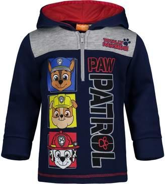 Nickelodeon Paw Patrol Boys' Half-Zip Pullover Fleece Hoodie