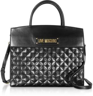 Love Moschino Black Quilted Tote Bag