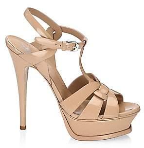 14b6948af69 Saint Laurent Women s Tribute 105 Patent Leather Platform Sandals