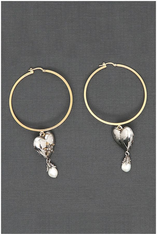 Alexander McQueenHeart Earrings
