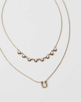 Abercrombie & Fitch Horseshoe Charm Necklace
