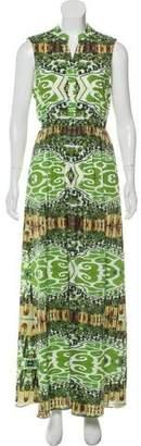 Alice + Olivia Sleeveless Printed Maxi Dress