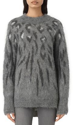 ALLSAINTS Arley Leopard Print Sweater $268 thestylecure.com