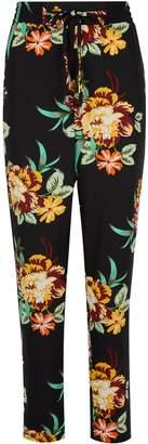 Dorothy Perkins Womens Black Floral Print Joggers