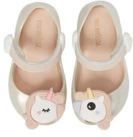 Mini Melissa Ultragirl Unicorn Glittery Mary Jane Flat