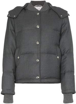 Thom Browne hooded button up puffer jacket