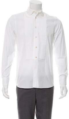 MAISON KITSUNÉ Pleated Bib Button-Up Shirt