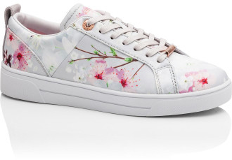 Ted Baker Printed Lace Up Tennis Trainer