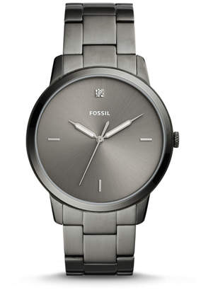 Fossil The Minimalist Carbon Series Three-Hand Smoke Stainless Steel Watch
