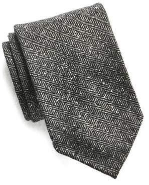 Drakes Drake's Herringbone Tweed Tie