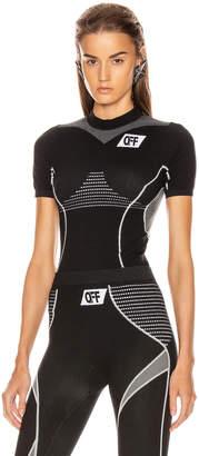 Off-White Off White Athletic Short Sleeve T Shirt in Black & White   FWRD