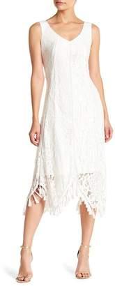 Taylor Tassel Trim Lace Midi Dress