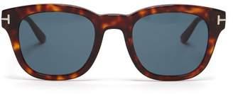 Tom Ford Square Frame Tortoiseshell Acetate Sunglasses - Womens - Tortoiseshell