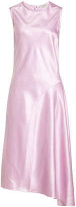 Nina Ricci Asymmetric Satin Dress