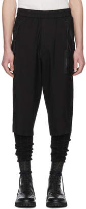 Julius Black Nylon and Cotton Cropped Trousers