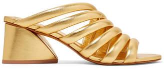 Mercedes Castillo Izzie Metallic Leather Mules