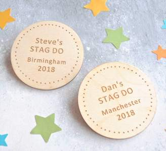Sweet Pea Design Personalised Stag Do Dotty Badges