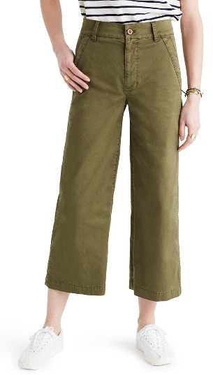 Women's Madewell Dearborn Wide Leg Crop Pants