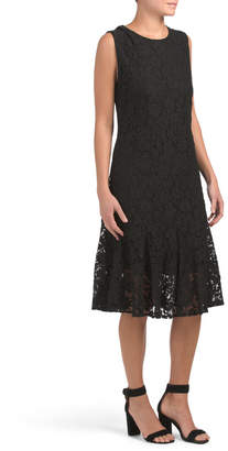 Made In Italy All Over Lace Midi Dress