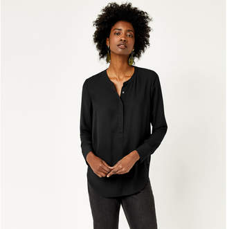 Warehouse Long Sleeve Button Side Blouse