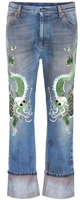 Gucci Embroidered boyfriend jeans