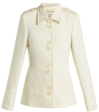 Wales Bonner Silk And Wool Blend Military Jacket - Womens - Ivory
