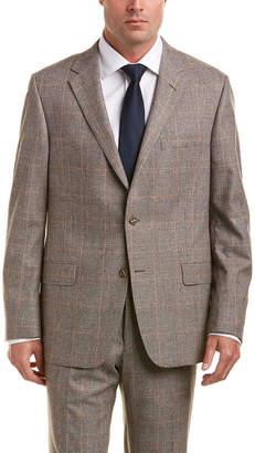 Hickey Freeman Wool & Silk-Blend Suit With Flat Front Pant