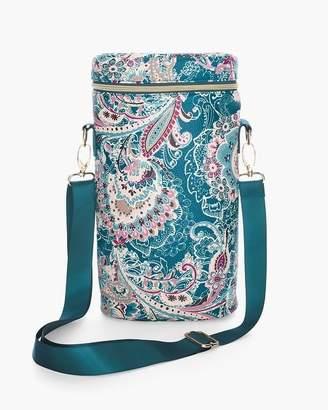 Floral Lace-Print Travel Wine Bag