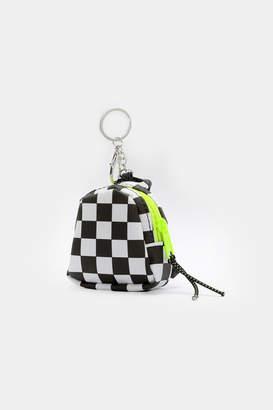 Ardene Checkerboard Coin Purse Keychain
