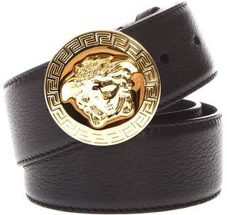 Versace Medusa Black Leather Black